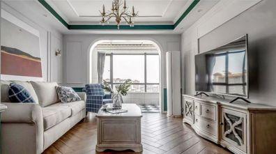 富裕型100平米三美式风格客厅装修图片大全