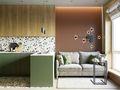 经济型70平米一室一厅北欧风格客厅装修图片大全