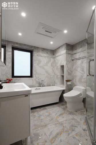 20万以上140平米四室一厅中式风格卫生间图片
