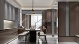 经济型50平米港式风格餐厅设计图