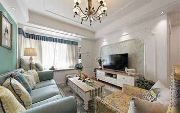 富裕型130平米三美式风格客厅图片