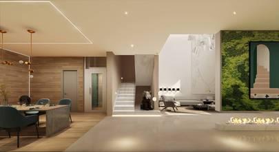 140平米四室六厅现代简约风格书房设计图