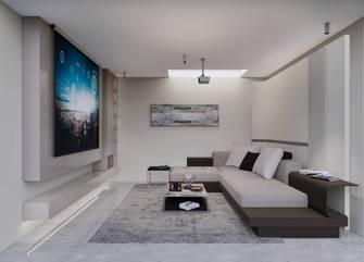 20万以上130平米三室两厅现代简约风格影音室图片大全