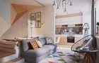 富裕型公寓现代简约风格客厅装修图片大全
