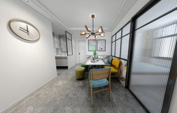 富裕型80平米三室两厅现代简约风格餐厅设计图