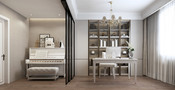 经济型140平米四室三厅美式风格书房设计图