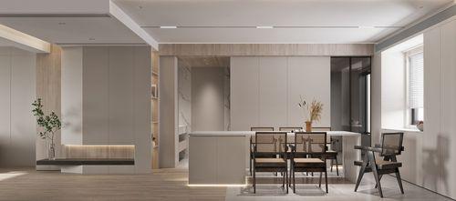 豪华型100平米三室两厅现代简约风格餐厅设计图
