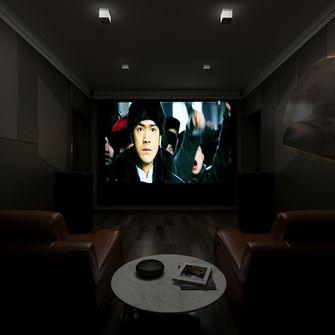 富裕型140平米三室两厅现代简约风格影音室图片大全