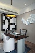 富裕型120平米三室一厅中式风格书房图片