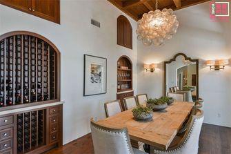 80平米三室一厅地中海风格餐厅欣赏图