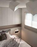 富裕型130平米三室两厅北欧风格卧室图