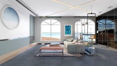 90平米公寓轻奢风格客厅装修效果图