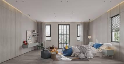 140平米别墅现代简约风格青少年房装修案例