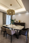 豪华型140平米四室一厅现代简约风格餐厅装修效果图