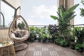130平米三室一厅美式风格阳台欣赏图