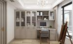 富裕型110平米三室两厅美式风格书房装修图片大全