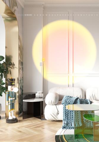 豪华型60平米一居室混搭风格客厅装修效果图