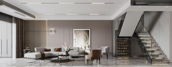 140平米复式轻奢风格客厅图