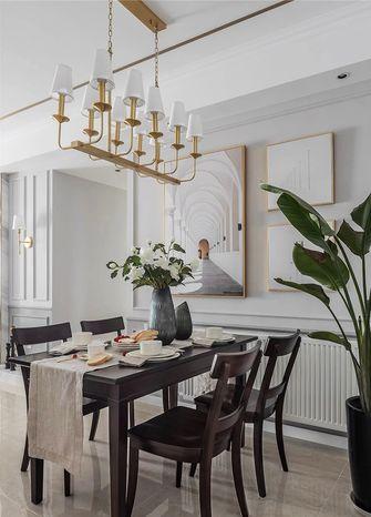 富裕型120平米三美式风格餐厅欣赏图