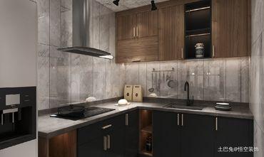 富裕型80平米三工业风风格厨房装修效果图