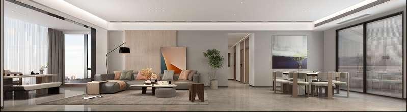 140平米现代简约风格客厅欣赏图