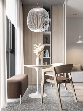5-10万60平米一室一厅现代简约风格餐厅装修效果图