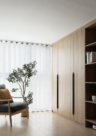 经济型90平米三室两厅日式风格阳台图