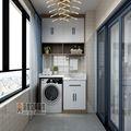 经济型110平米四室两厅现代简约风格阳台装修效果图