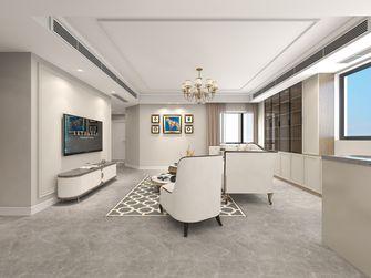 富裕型130平米三室三厅美式风格客厅图
