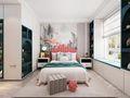 富裕型三室两厅现代简约风格卧室图