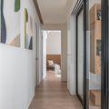 富裕型110平米三日式风格走廊图片大全