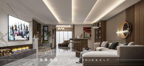 20万以上140平米别墅现代简约风格影音室图片大全