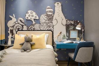 富裕型100平米三法式风格卧室欣赏图