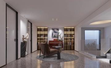 140平米三室一厅混搭风格书房欣赏图