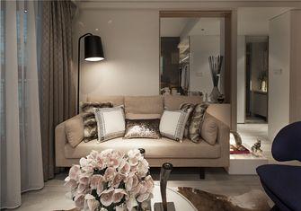 富裕型70平米美式风格客厅图