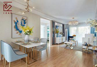 富裕型120平米三室两厅现代简约风格餐厅图片大全