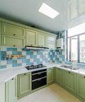 富裕型140平米三室两厅美式风格厨房装修案例