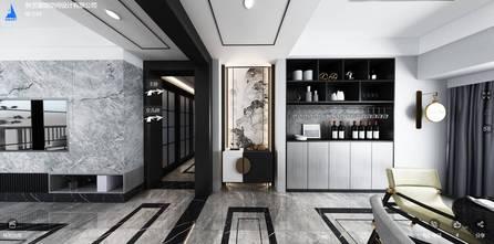 140平米三室两厅中式风格走廊效果图