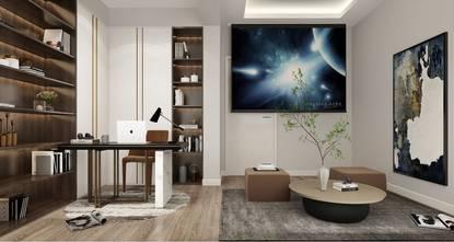 富裕型140平米四室两厅现代简约风格影音室装修案例