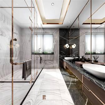 20万以上140平米复式现代简约风格卫生间设计图