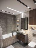 经济型70平米一居室现代简约风格卫生间效果图