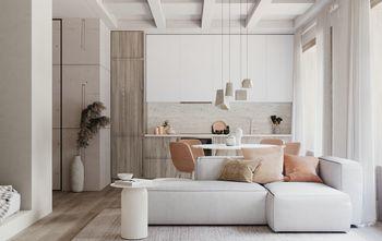 富裕型110平米三室两厅田园风格客厅图片大全