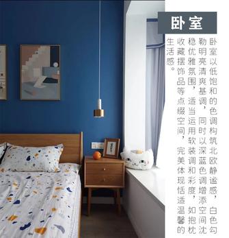 富裕型三室两厅北欧风格卧室图