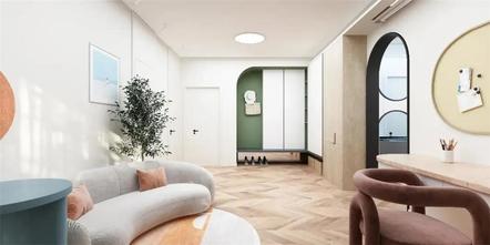 15-20万110平米三室两厅北欧风格玄关欣赏图