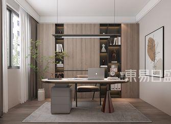 富裕型140平米四室两厅现代简约风格书房图片大全