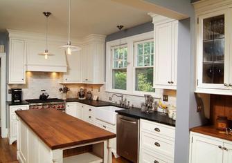 3-5万30平米以下超小户型现代简约风格厨房设计图