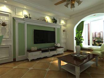 80平米田园风格客厅效果图