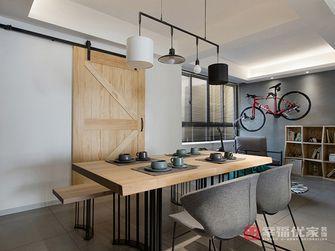 富裕型100平米三室两厅田园风格餐厅装修图片大全