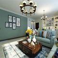 富裕型120平米三室两厅美式风格走廊图片