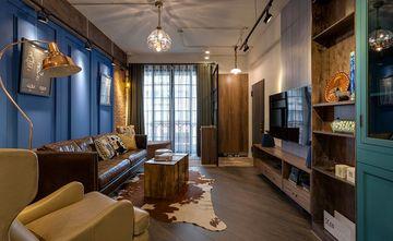 3万以下110平米三室一厅工业风风格客厅图